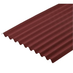Telha Fibra Ecológica Vermelha 2,00x95x3 Mm - Onduline