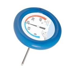 Termômetro para Piscina 5+45ºc Redondo Azul  - Incoterm
