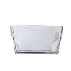 Tigela Quadrada de Acrílico Transparente 18x18 Cm - Felli