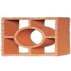 Tijolo Vazado Diagonal Redondo 25x18x7cm - Martins