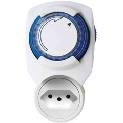 Timer Mecânico Bivolt de Tomada Branco - KeyWest