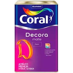 Tinta Acrílica Decora Fosco Branco 18 Litros - Coral