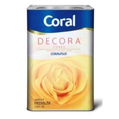 Tinta Acrílica Decora Fosco Pêssego 18 Litros - Coral