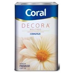 Tinta Acrílica Decora Semi-Brilho Branco Neve 18 Litros - Coral