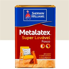 Tinta Acrílica Fosco Bianco Sereno 18l - Metalatex - Sherwin Williams