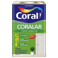 Tinta Acrílica Interno Branco Gelo Fosco 18 Litros - Coral