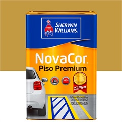 Tinta Acrílica Novacor Piso Mais Resistente Premium Amarelo 18 Litros - Sherwin Williams