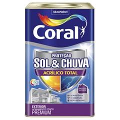 Tinta Acrílica Premium Fosca Proteção Sol & Chuva Paçoca Doce 18 Litros - Coral