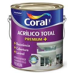 Tinta Acrílica Total Fosco Branco 3,6 Litros - Coral
