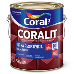 Tinta Esmalte Coralit Acetinado Branco 3,6 Litros - Ref: 001 2111.01  - Coral