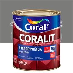 Tinta Esmalte Coralit Brilhante Cinza Médio 3,6 Litros - Coral