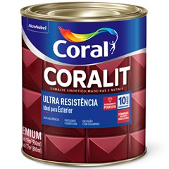 Tinta Esmalte Coralit Brilhante Platina 900ml - Coral