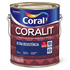 Tinta Esmalte Coralit Fosco Preto 225ml - Coral