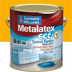 Tinta Esmalte Eco Alto Brilho Amarelo Ouro 3,6l  - Metalatex - Sherwin Williams