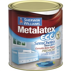 Tinta Esmalte Eco Alto Brilho Platina 900ml - Metalatex - Sherwin Williams