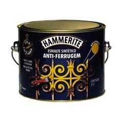 Tinta Esmalte Hammerite Brilhante Prata Anti-Ferrugem 2,4 Litros - Coral