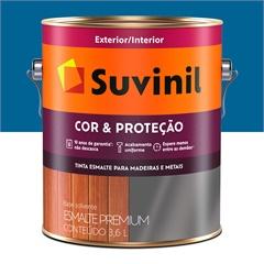 Tinta Esmalte Premium Brilhante Cor & Proteção Azul França 3,6 Litros - Suvinil