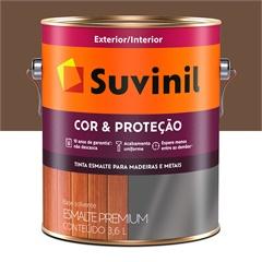 Tinta Esmalte Premium Brilhante Cor & Proteção Tabaco 3,6 Litros - Suvinil