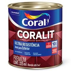 Tinta Esmalte Sintético Premium Brilhante Coralit Tradicional Del Rey 225ml - Coral