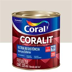 Tinta Esmalte Sintético Premium Brilhante Coralit Tradicional Gelo 225ml - Coral