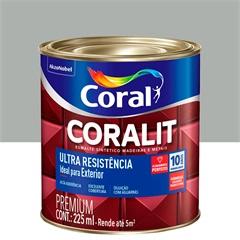 Tinta Esmalte Sintético Premium Brilhante Coralit Tradicional Platina 225ml - Coral