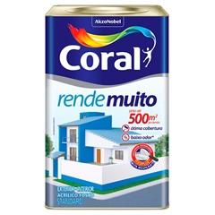 Tinta Fosco Rende Muito Branco 18 Litros - Coral