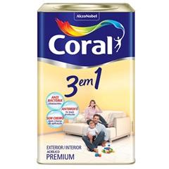 Tinta Látex 3 em 1 Branco 18 Litros - Coral