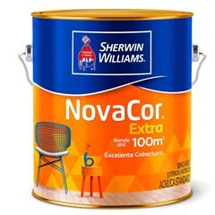 Tinta Novacor Acrílica Fosco Amarelo Sol 3,6 Litros - Sherwin Williams
