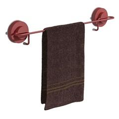 Toalheiro Banho Vermelho Fixa Click - Domo House