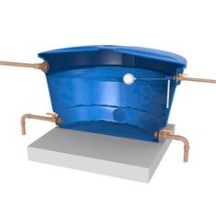Torneira Bóia com Flange para Caixa D'Água 3/4 E 1/2 - Blukit