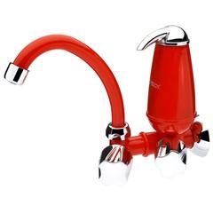 Torneira para Cozinha de Parede com Filtro E Bica Móvel Acqua Vermelha - Acquabios