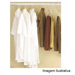 "Tubo Closet Redondo 1"" Branco 110cm - Fico Ferragens"