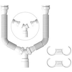 Tubo Extensível Pp Duplo Branco - Censi