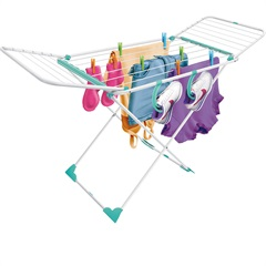 Varal de Chão Pegasus com Asas 1,42x0,85x0,56cm Branco - Secalux