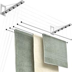 Varal de Teto em Aço Inovar 150cm Branco - Maxeb