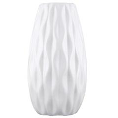 Vaso Cerâmico Largo 12x7cm Branco - Mart
