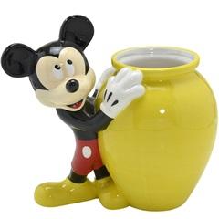 Vaso Cerâmico Mickey 21cm Amarelo - Importado