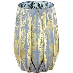 Vaso em Vidro 20x15cm Azul - Mart