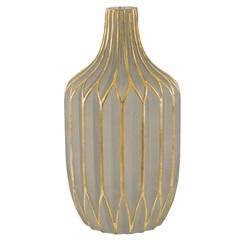 Vaso em Vidro 26x14cm Fendi E Dourado - Mart