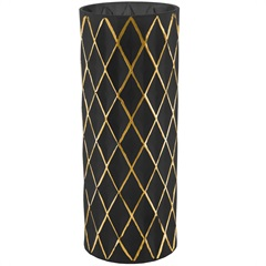 Vaso em Vidro 30x12cm Dourado E Preto