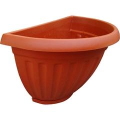 Vaso para Parede com Prato Denise Terracota 19cm - West Garden