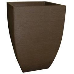 Vaso Quadrado Moderno em Polietileno 45cm Café - Japi