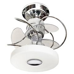 Ventilador de Teto com Luminária 149,5w Bivolt Mônaco Cromado  - Treviso
