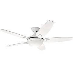 Ventilador de Teto com Luminária 67w 220v Contempo com 5 Pás Branco - Hunter Fan