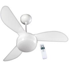 Ventilador de Teto com Luminária Controle Remoto Santorini 110v com 3 Pás Branco - Casanova