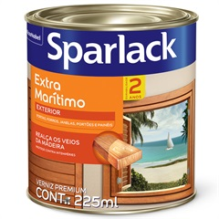Verniz Premium Brilhante Extra Marítimo Natural 225ml - Sparlack