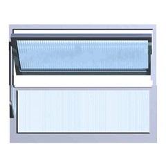 Vitrô Basculante 40x60 1 Seção Max Vidro Canelado - Ebel