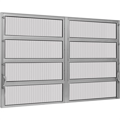 Vitrô Basculante 80x120 2 Seções Max - Ebel
