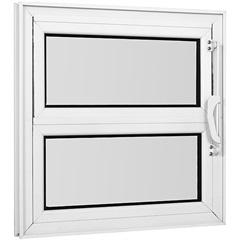 Vitrô Basculante de Alumínio 1 Seção Vidro Mini Boreal Branco Una 40x60cm - Casanova