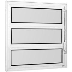 Vitrô Basculante de Alumínio 1 Seção Vidro Mini Boreal Branco Una 60x60cm - Casanova